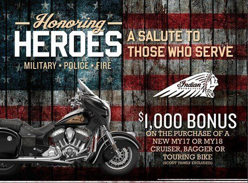 Indian Honoring Heroes Heavyweight Offer